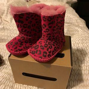 Infant Pink Leopard UGG Boots